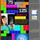 Vinteja charts of - Tetris Facts - A3 Paper Print