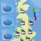Vinteja charts of - UK Deliveries - A3 Paper Print