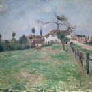 The Village of Eragny - 24x18 IN Canvas