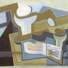 Guitar and Fruit Bowl [3] by Juan Gris - Poster (24x32IN)