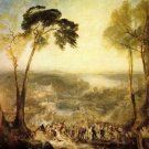 The baths, Venus and Demosthenes by Joseph Mallord Turner - A3 Poster