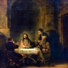 Christus in Emmaus [1] by Rembrandt - 24x18 IN Canvas
