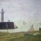 Harbor in Honfleur 2 by Seurat - 24x32 IN Canvas