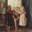 Little girl with a cod by Anna Ancher - 24x32 IN Canvas