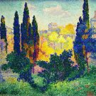 Cypress Trees at Cagnes,1908 3 - 24x18 IN Canvas