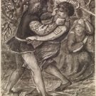 A Fight for a Woman - Compositional Study, 1853 - 24x32 IN Canvas