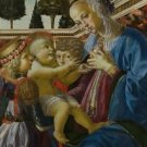 Andrea del Verrocchio - The Virgin and Child with Two Angels - A3 Paper Print