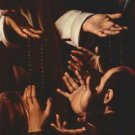 Rosary Madonna detail 2 by Caravaggio - 24x18 IN Canvas