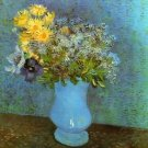 Vase with Lilacs Daisies and Anemones - 24x32 IN Canvas