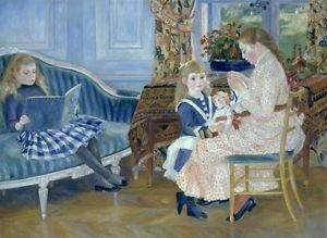 Children's Afternoon at Wargemont, 1884 - 24x32 IN Canvas