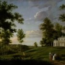 Thomas Birch - View of Sedgeley Park - A3 Paper Print