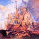Battle of Trafalgar 2 by Joseph Mallord Turner - 24x18 IN Canvas