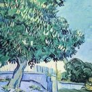 Blossoming chestnut tree [2] by Van Gogh - 24x18 IN Canvas