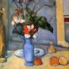 Still Life with Blue vase by Cezanne - 24x32 IN Canvas
