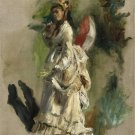 Young Woman with a Parasol, 1868 - 24x32 IN Canvas