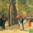 Fifth Avenue and Washington Square by Hassam - 24x18 IN Canvas