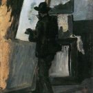Portrait of Pissarro Painting, 1868 - A3 Poster