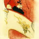 The loge with a gold mas by Toulouse-Lautrec - 30x40 IN Canvas