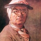 Self-portrait with glasses by Jean Chardin - A3 Poster