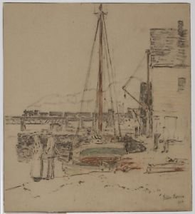 Cos Cob, the Bridge and Docks, 1902 - 24x18 IN Poster