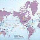 Vinteja charts of - Undersea Cables A - A3 Paper Print