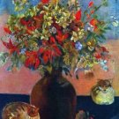 Flowers and Cats by Gauguin - A3 Poster