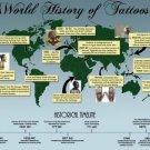 Vinteja charts of - Tattoo World History - A3 Paper Print