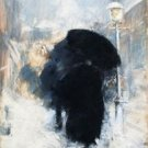 A New York Blizzard, 1890 - 30x40 IN Canvas