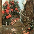 In the garden in Villiers-le-Bel by Hassam - A3 Poster
