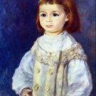 Child in White by Renoir - 24x18 IN Canvas