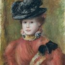Woman in a Red Corsage and a Black Hat, 1894 - Poster Print (24 X 18 Inch)