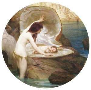 A Water Baby, 1900 - 24x18 IN Poster