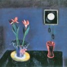 Still life with clock and tulip pot by Walter Gramatte - 30x40 IN Canvas