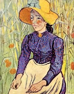 Portrait of a young peasant girl by Van Gogh - 30x40 IN Canvas