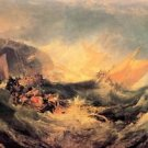 Wreck of a transport ship by Joseph Mallord Turner - 30x40 IN Canvas