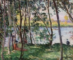 Rest on the Banks of the Yaudet, 1897 - A3 Poster