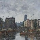 Rotterdam, the Bridge of Bourse, 1873 - 24x18 IN Poster
