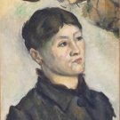 Portrait of Madame Cezanne, 1885-87 - 24x32 IN Canvas