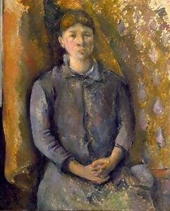 Portrait of Madame Cezanne, 1886 - 24x32 IN Canvas