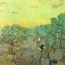 Olive pickers in a grove by Van Gogh - 24x18 IN Canvas