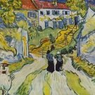 Street and road in Auvers by Van Gogh - 24x18 IN Canvas