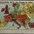 Vinteja charts of - Europe 1914 B - A3 Paper Print