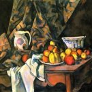 Still life with apples and peaches by Cezanne - A3 Poster
