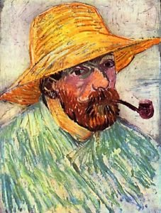 Self-Portait with straw hat [2] by Van Gogh - Poster (24x32IN)