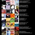 Vinteja charts of - PHS Essential Indie Pop - A3 Paper Print