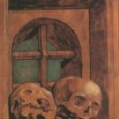 Two Skulls in a Window Niche. c.1520 - A3 Poster