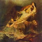 Rape of the Proserpina by Rembrandt - 30x40 IN Canvas