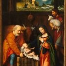 Adoration of the Christ Child (1520-1525) - 24x18 IN Canvas