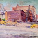 Foot of 52nd Street at Hudson Park - 24x32 IN Canvas