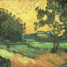 Landscape with Castle Auvers at Sunset by Van Gogh - 24x18 IN Canvas